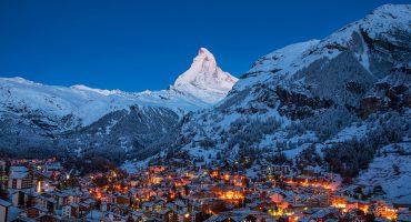 Topper og daler for skientusiaster i Europa